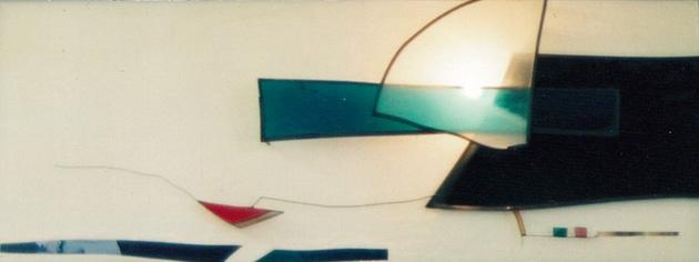 壁のオブジェランプ No.1/wall lamp No.1 45×110cm