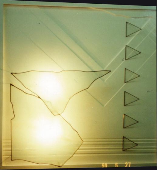 壁のオブジェランプ No.2/wall lamp No.2 65×65cm