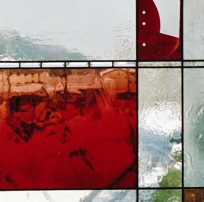 赤のコンポジション 70cm×70cm